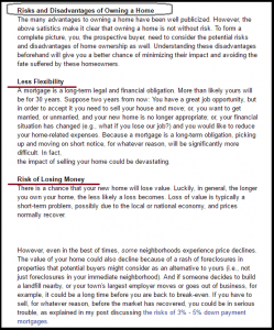 Dc Fawcett Real Estate Disadvantages of owning a home