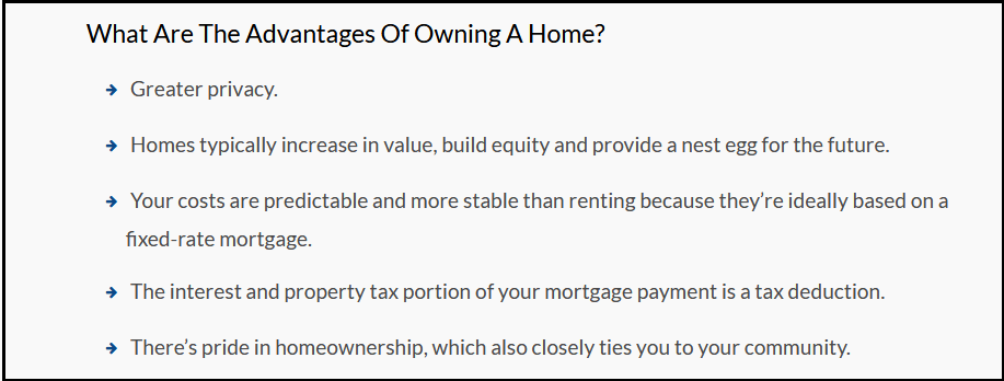 Dc Fawcett Reviews - Advantages of buying a home