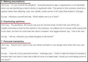 DC Fawcett Real Estate Things Should Not Say To Clients